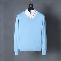 Wholesale plus size white sweater - Brand New Men's V-neck Sweaters 100% cotton 12 colors 1pcs lot Plus size S-XXL men knited pullover drop shipping