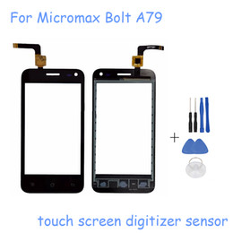 Wholesale Micromax Screen Glass - Wholesale- New 4.0 inch Sensor For Micromax Bolt A79 Touch Screen Digitizer Glass Sensor Replacement Free Shipping with tools
