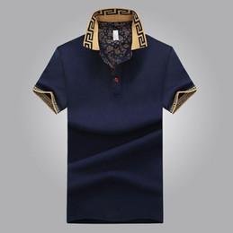 Wholesale Men Fashion Fit Crew - Asian size Mens Polo Shirt Brand Plus Size 4XL Cotton Polo Shirt Men Slim Fit Brand Clothing Black Solid Polo Shirt