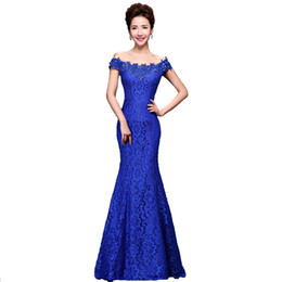 Wholesale Model Dress Cheongsam - 2017 Cheap Elegant Mermaid Red Long Lace Evening Dresses Off the Shoulder Embroidery Formal Evening Gowns Cheongsam