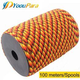YoouPara 252 Couleurs Paracord 4mm 100 Mètres Bobines Corde à 7 brins Corde de parachute Extérieur Escalade tactique Survie Paracord 550 ? partir de fabricateur