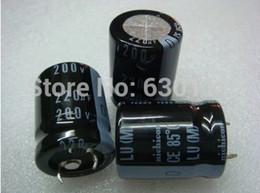 Wholesale Capacitor Sizing - Wholesale- Free shipping 10pcs 220UF 200V electrolytic capacitor,200V 220uf Size:22x25mm