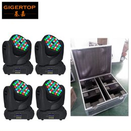 Wholesale 5w Single Led - Flight Case 4IN1+4pcs lot 36*5W USA Cree Led Moving Head Beam Light Hi-Quality RGBW Single Color DJ Disco Stage Party Lighting