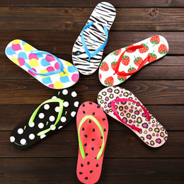 Wholesale Dot Flip Flop - 2017 Wholesale DHL Free Shipping Special SALES Candy colors Womens Beach Summer Slippers Flip Flops Couple slippers Multi -Color Leopard Dot
