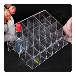 Wholesale Wholesale Jewelry Racks - Display Rack Holder Acrylic Jewelry Cosmetic Storage Display Stand Boxes Makeup Cosmetic Organizer Display Stand Free Shipping