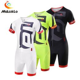 Wholesale Men S Jumpsuits - Malciklo 2017 Hot Sale Men Cycling Sets Ropa Ciclismo Pro Cycling Clothing Jerseys Suit Jumpsuit Skinsuit Bike Triathlon Sport Short sleeve