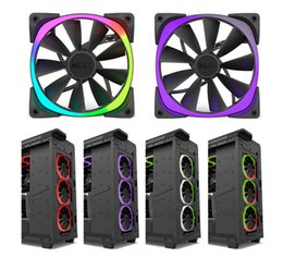 Wholesale Bear Technology - NZXT Aer RGB 12CM   14CM fan HUE + controller intelligent set,NZXT Aer RGB chassis fan with NZXT RGB light technology