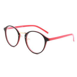 Wholesale Wholesale Geek Eyeglass Frames - Wholesale- New Women Clear Len Plastic Round Frame Nerd Geek Glasses Eyeglasses Eyewear H34