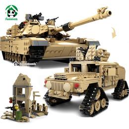 Wholesale Large Toy Bricks - Kazi Large Military 1463pcs 2in1 Tank Hummer Building Blocks Bricks Army War Models Toys for Boys Children Compatible lepin