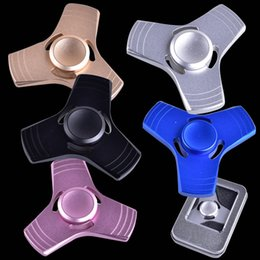 Wholesale Dry Metal - Triangle Fidget Spinners Aluminum Alloy Spinning Top Decompression Anxiety Toys Fingertip Finger Toys OTH351