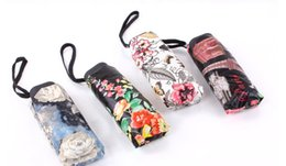 Wholesale Clear Umbrella Printing - 2017 spot new oil paintings, digital prints, rose roses, half off umbrellas, clear umbrellas, folding flower peonies