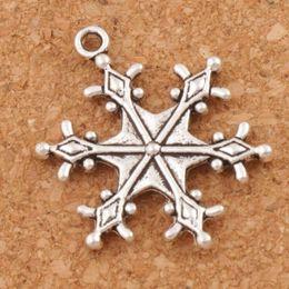 Wholesale Wholesale Beads Pendants - Big Dots Snowflake Charm Beads 22x28.7mm Tibetan Silver Pendants Fashion Jewelry DIY Fit Bracelets Necklace Earrings L737