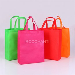 Wholesale Cheap Bag Shops - Wholesale- 100PCS Promotional Cheap Eco-friendly Customized Shopping Non Woven Bag w  Handle , Custom LOGO Printed Non-Woven Bag