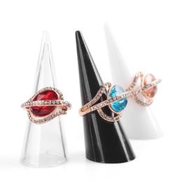 Présentoir d'anneau de bijoux en plastique de doigt de maïs titulaire noir clair blanc décoration de table organisateur permanent vitrine ZA2937 ? partir de fabricateur