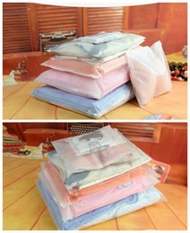 Wholesale Pe Clothes - wholesale PE plastic high quality clothing packing bag Multiple size cloth storage zipper clear bag allowed customeize free shipping (7)