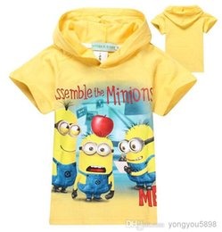 Wholesale Wholesale Minion T Shirts - Wholes 6 pcs lot 2018 boys girls baby t-shirts pants cartoon nova costumes minion despicable me 2 children t shirts kidsTops & Tees.