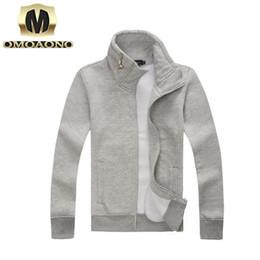 Wholesale Korean Zipper Jackets Hoodies - Wholesale-Solid Stylish simplicity South Korean new winter wild collar temperament men hoodies coat jackets