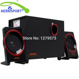 Wholesale Speaker For Laptop Pc - Wholesale- MERRISOIRT 2.1 Computer Speakers System with Powered Subwoofer for Desktops Laptops PC Tablets MP3 4 Players Home Theaters Black
