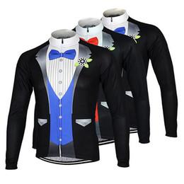 Wholesale Thermal Wear For Men - 2017 Gentleman Style Long Sleeves Cycling Jerseys Winter Thermal Fleece MTB Ropa Millot Road Racing XS-4XL Bike Wear For Men Women