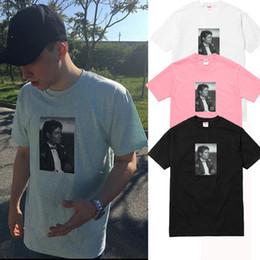 Wholesale Shirt Printed Casual Woman - Michael Jackson Photo Tee Box logo Tee Rock N Roll Skateboard T-shirt Men Women Cotton Casual TShirt