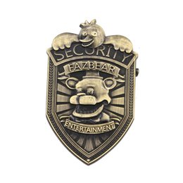 Wholesale Wholesale Diamond Brooch - 2017 new Five Nights at Freddy's Pins Zinc Alloy FNAF Commemorative Feith Bear Brooches 5cm badge