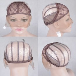 Wholesale Weaving Wig Cap Net - Double Lace Wig Caps For Making Wigs And Hair Weaving Stretch Adjustable Wig Cap Hot Black Dome Cap For Wig Hair Net