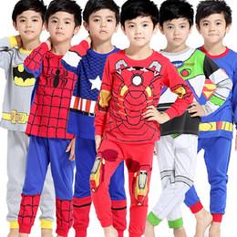 Wholesale Pijamas Boys - 2017 Boys Pijamas Set Children's Kids Pyjamas Clothing Sets For 2-7 Years Cartoon Pyjama Enfant Sleepwear KF041