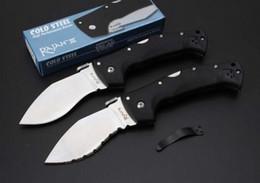 Vente chaude acier froid pliant haut de gamme DOG Leg couteau D2 lame en acier, nylon + fibre poignée originale boîte emballage longueur totale 21CM outils EDC ? partir de fabricateur