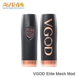 Wholesale Engraved Batteries - Authentic VGOD Elite Mech Mod with 510 Thread Crest Design Deep Set VGOD Engraving Floating Battery Adjustment VS VGOD Pro Mech