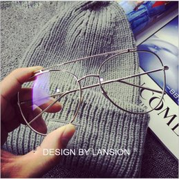 Wholesale Solid Frame Glasses - South Korean fashion metal vintage Yang power Rain gulienna and a pair of eyeglass frames of male and female toad flat glasses