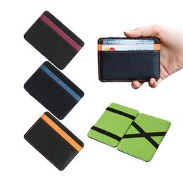 Wholesale Money Clip Wallet For Women - Wholesale- 2017 New Brand men's leather magic wallet money clips casual clutch bus card bag for women 10*7*0.8cm man purse