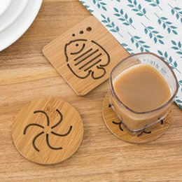 Wholesale Japan Gadget - Small Hollow Wooden Tableware Pad Thickening Heatproof Coasters Anti-skid Placemat Bowl Pad Kitchen Gadgets