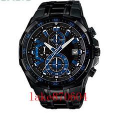 Wholesale Gold Mens Divers Watch - NEW GA100 GA110 SHOCK hot sell Mens Sports Chronograph Black Steel Watch EF-550BK-1AV EF-550BK-1A Gents Wristwatch 550BK WATCH