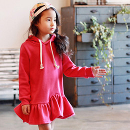 Wholesale Sheath Dress Kids - High Quality 2017 New Fashion Chinese style Sports Children sweet rose girl long-sleeve sport Birthday gift kid dress girl clothes MWG003