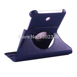 Wholesale Asus Memo Cases - Wholesale-Rotary 360 Degree Rotaing Litchi Grain Folio Stand PU Leather Sleeve Case Cover For Asus MeMO Pad 7 ME176 ME176C ME176CX K013