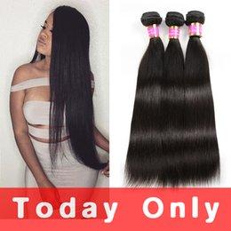Wholesale Thick Brazilian Hair - Unprocessed Malaysian Virgin Hair Straight 10A Grade Malaysian Straight Hair Weave Bundles Soft and Thick Human Hair Extensions