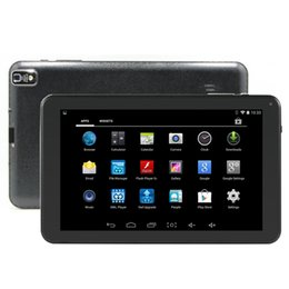 Wholesale Epad 3g Wifi - DHL Shipping 9 inch Android 4.4 Quad Core Allwinner A33 Tablet PC 1G RAM 8G ROM WIFI External 3G Epad