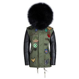 Wholesale Men S Real Leather Jacket - Wholesale- New arrival real fur collar coats fur men leather jacket winter warm leather sleeves lined black fur coat
