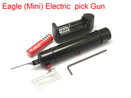 Wholesale Eagle Setting - 2017 New Eagle(Mini) Electric Pick Gun Self Clamping Screw Needle Precisely Adjustable Force Size Small Volume Low Weight Locksmith Tools