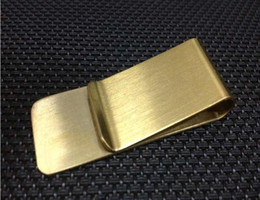 Wholesale Fedex Open - Stainless Steel Brass Money Clipper Slim Money Wallet Clip Clamp Card Holder Credit Name Card Holder 100pcs DHL FEDEX Free shipping