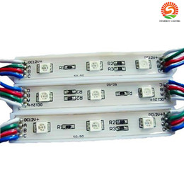 Wholesale Diy Led Module - DIY 3 Leds SMD 5050 Led Modules Waterproof 12V RGB Led Pixel Modules Light WW PW CW R G B For Channel Letters