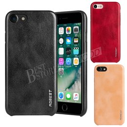 Wholesale Iphone Case Leather Quality - MOBEST Elite Series PU Leather Phone Case Shock-proof Back Cover Shell High-Quality Cases For iPhone 7 6 Plus Samsung S7 Edge S8 Plus