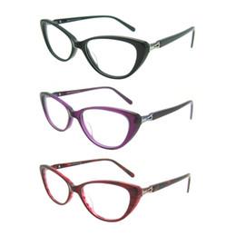 Wholesale Spectacle Frames Lady - Cat Eye Glasses Eyewear Eyeglasse Frames For Women Computer Plain Mirror Lady Spectacle Frame Optical Computer Brand Design