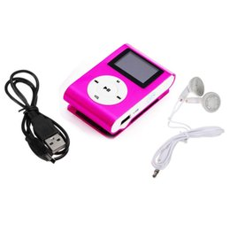 Wholesale Good Mp3 Player - Wholesale- Binmer Good Sale Metal Clip Digital MP3 Player mini LCD Screen support for 2 4 8 16GB TF Card + Earohone + Data cable Jun 10