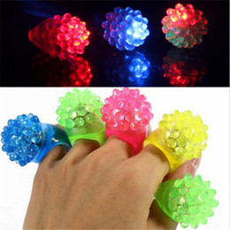 Wholesale Halloween Rings Led - Strawberry Glow Light Ring Torch LED Finger Ring Lights Flash Beams Light Halloween Party LED Toys Wedding