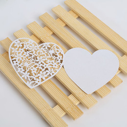 Wholesale F Cards - Greeting Cards Heart Shaped Creative Wedding Invitation Message Card Double Deck Hollow White Pearl Paper Hot Sale 0 35rc F