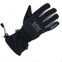 Wholesale Leather Gloves Xl - Wholesale- 2016 New GORE BIKE WEAR CROSS GTX -TEX Cycling riding gloves waterproof breathable winter keep warm kinght gloves