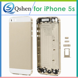 Wholesale Iphone Battery Parts - For iPhone 5G 5S Phone Back Housing Cover Battery Door Replacment High Quality Repair Parts High Quality Brand New