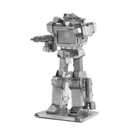Wholesale Wholesalers For Metal Robot Toys - Wholesale- 3D Metal Puzzle Model DIY Robot Soundwave Metallic Model Jigsaw Puzzle Toys For Children