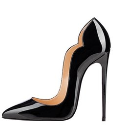 Wholesale Fashionable Dress Shoes - 2017 ZK shoes new arrival women 12cm height ruffles high heels sexy & fashionable design for spring fall sizeUS4~12.5